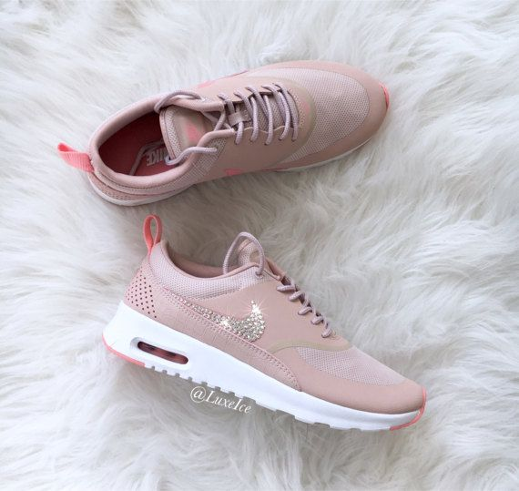 new product cfe6c d7e71 Nike Air Max Thea - customized with 2088 SWAROVSKI® Xirius Rose-Cut  Crystals.