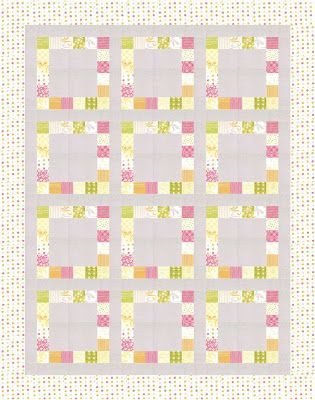 I've had some of you wondering about the layout for this quilt--so, I've decided to let you in on it. =)  You can see my plan for the quilt--it will finish at 52x66.  Now, no more sneak p...