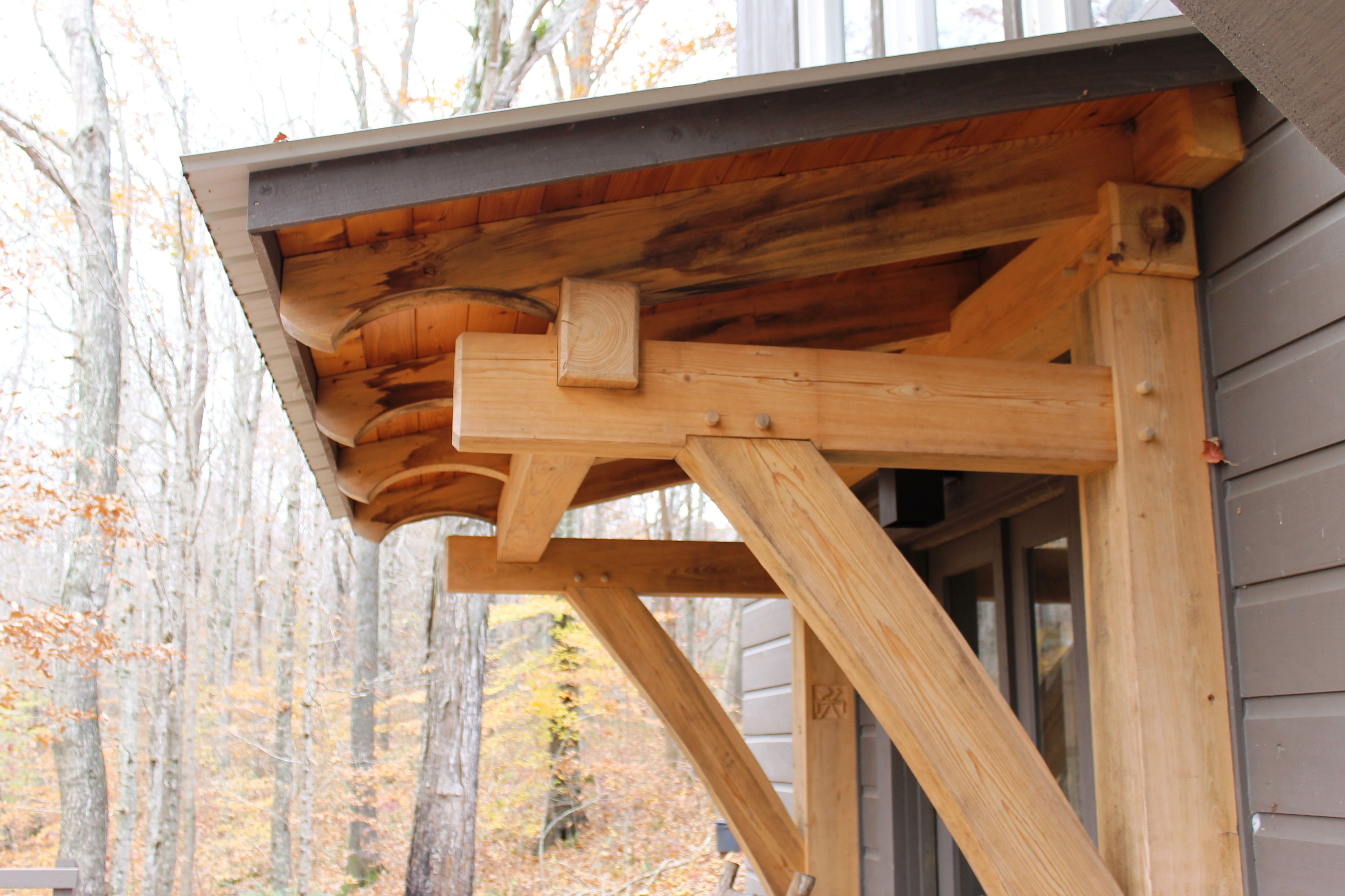 Timber Frame Porch - Heavy Timbered