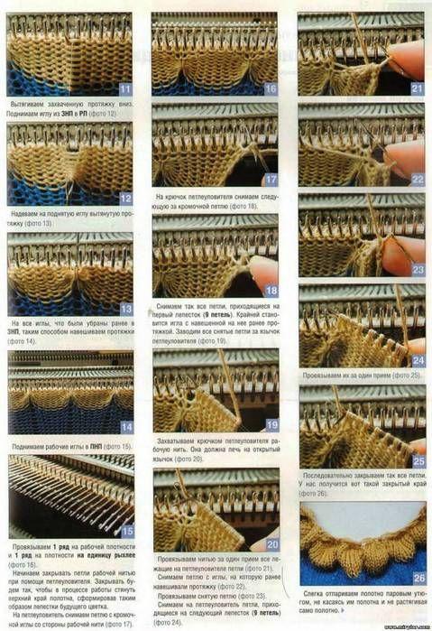 Инструкция вязания на вязальной машине