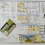 Esame di Stato per Architetti, sezione A – La Prova Grafica, Il tema di Progettazione, esempio completo CASE IN LINEA (con tavola svolta)