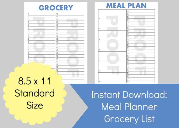 Meal Prep for the Week with this printable planner page for meal