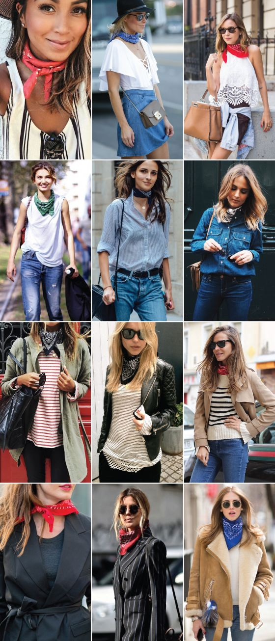 f6be7b24f749 TENDÊNCIA    12 LOOKS COM BANDANA NO PESCOÇO!   Fashion   Pinterest ...