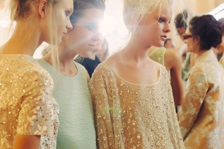 Backstage — Rochas Spring 2014 — Photographed by Victoria Will