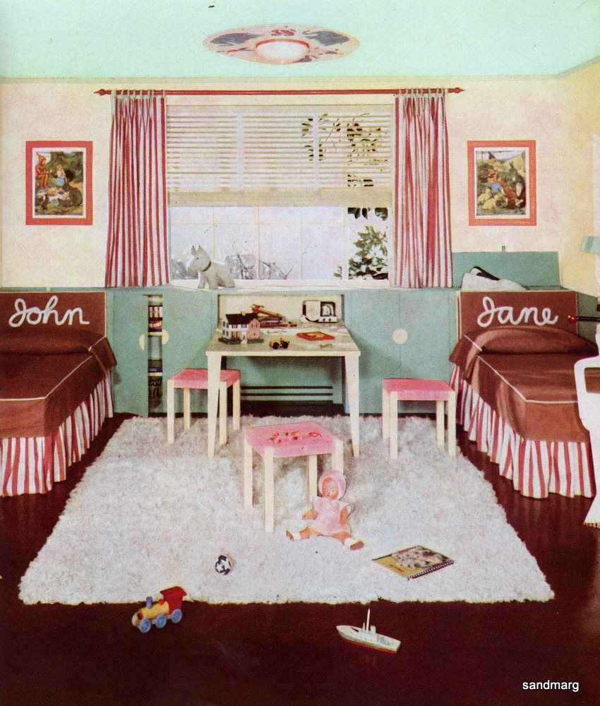 1940`s children`s nursery room for Jane and John…everything old is ...