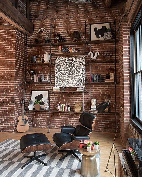 Car Garage Loft Retro Style: Déco Salon Industriel, Déco