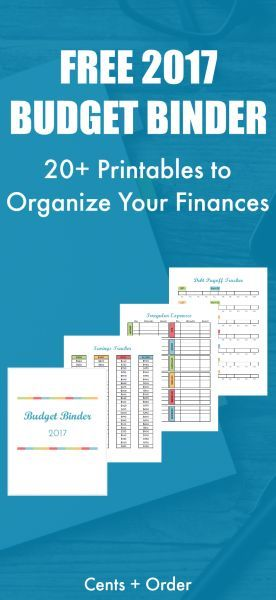 2017 budget binder printable how to organize your finances printable budget binder and. Black Bedroom Furniture Sets. Home Design Ideas