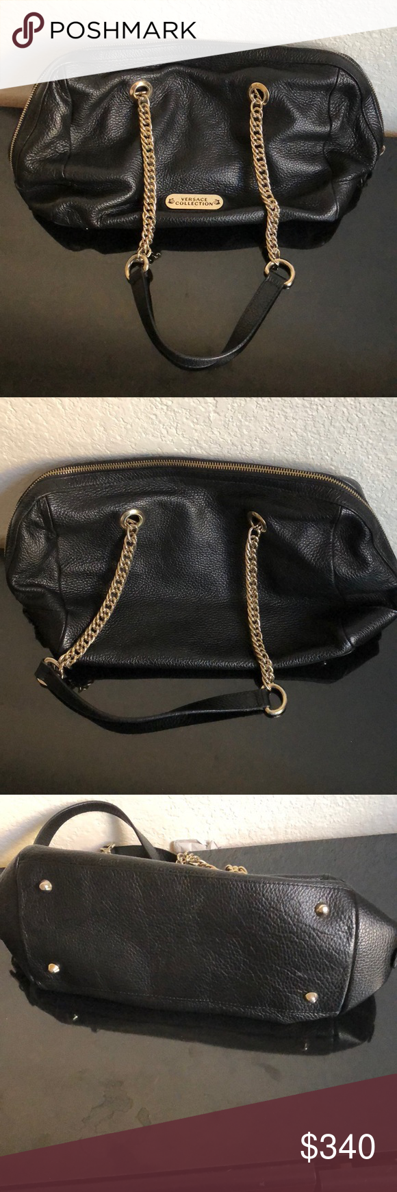 e8b93ef9a8 Like new authentic Versace collection purse Like new authentic Versace  Collection purse. No flaw except for a few tiny ink stains in the inside.