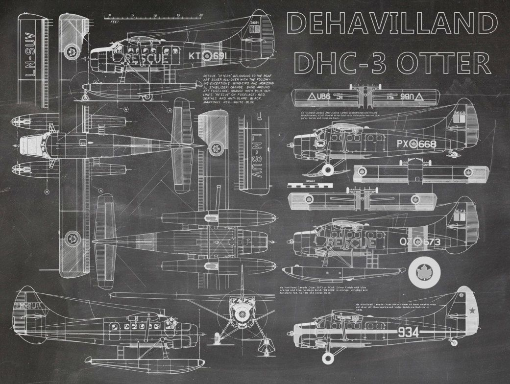 De havilland dhc 3 otter plane blueprint art of bigbluecanoe de havilland dhc 3 otter plane blueprint art of bigbluecanoe malvernweather Images