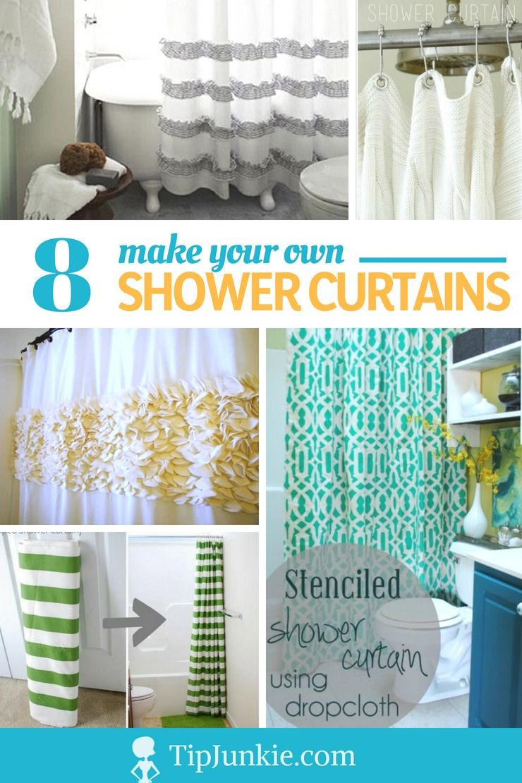 8 How To Make Your Own Shower Curtain Tutorials Curtain Tutorial