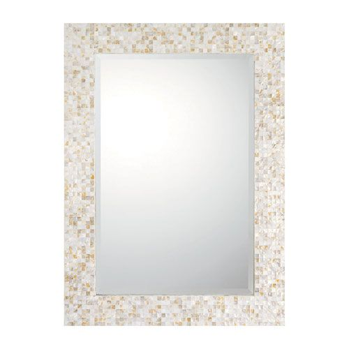 Mother Of Pearl Cream Rectangular Decorative Mirror Capital Lighting Fixture Company Recta