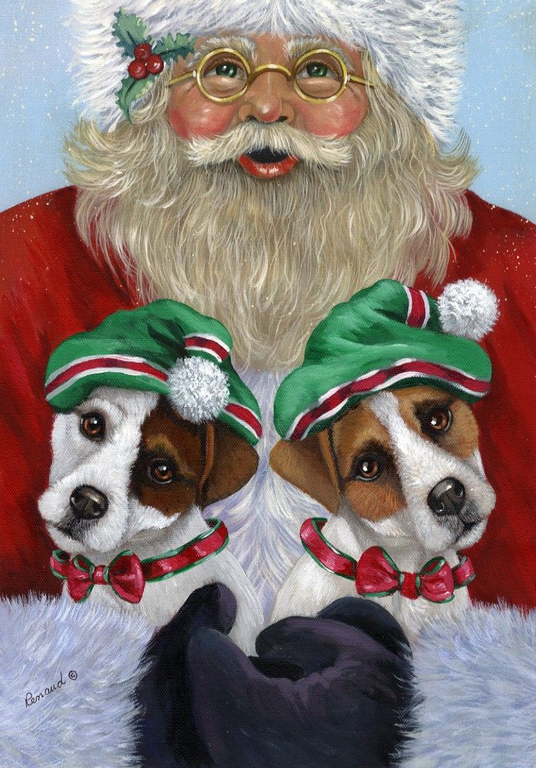 Santa Delivers Jack Russell Terriers For Christmas