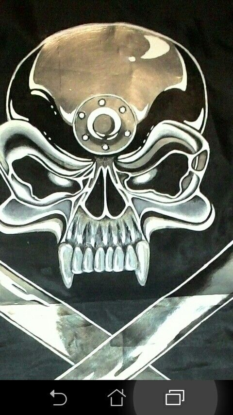 A friend asked if I could make a Jolly Roger flag for his truck. No problemo. Done. Turned out descent...he never flew it on his truck...he flew it on his front door instead