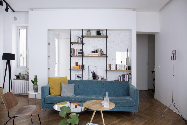 Une Transformation Radicale De 53 M² Appartement Cuisine De Petit Appartement Salons Lumineux