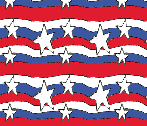 Colorful Fabrics Digitally Printed By Spoonflower Stars Stripes Fabric Stars Stripes Colourful Fabrics