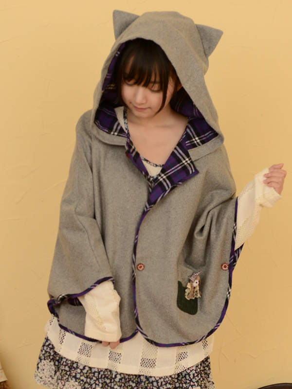 b38fed52e0e Kawaii cat ear cape  Japanese  Size-xs-s  asianicandy