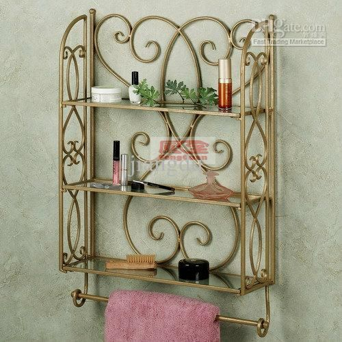 Wholesale Towel Rack Buy Wrought Iron Towel Rack Bathroom Rack Bathroom Wall Storage Rack Shelf Three Layer Rack Bathroom Wall Storage Shelves Wall Shelves