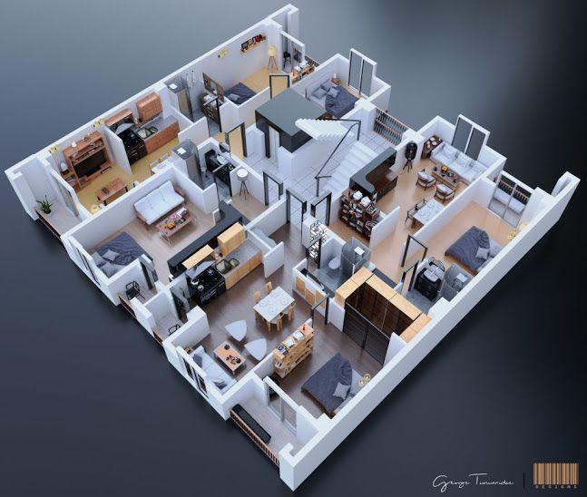 The Interiors Of George Turmanidze · 3d ArchitectureHouse ...