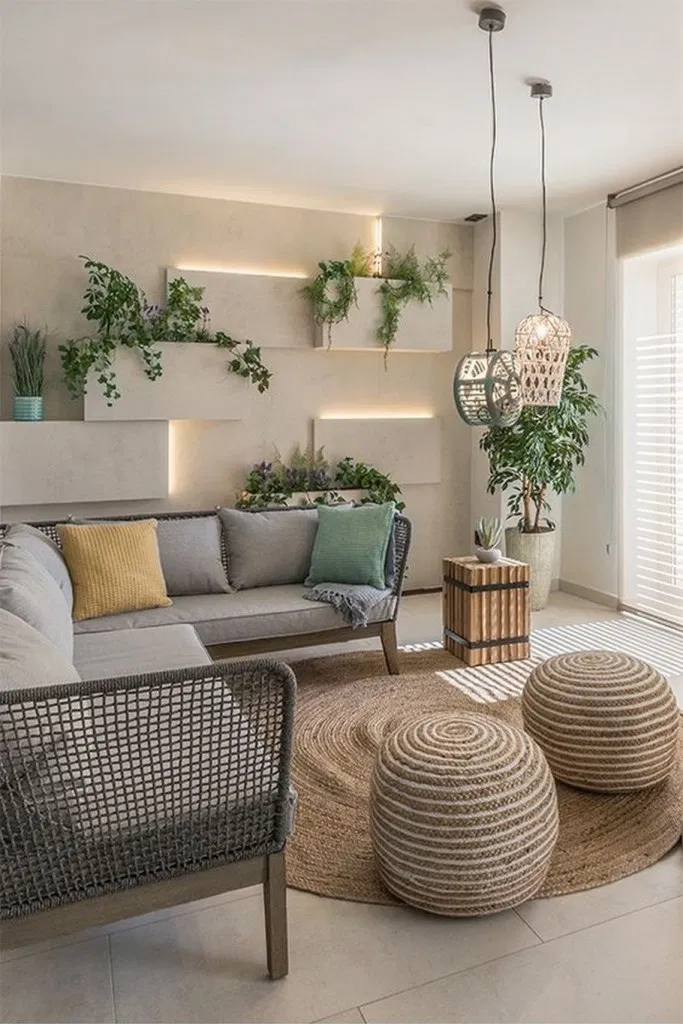 29 every single thing in this plant filled bohemian living ...