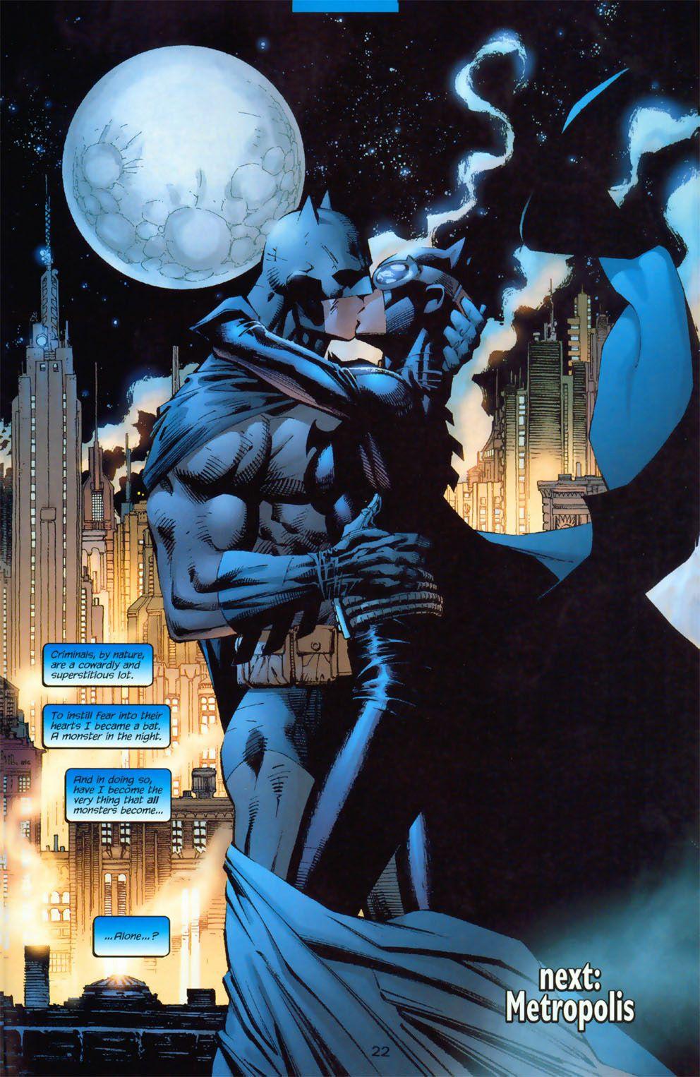 Batman Catwoman The Kiss In Batman Vol 1 610 Art By Jim Lee