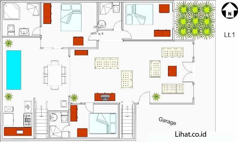 Desain rumah minimalis 4 kamar tidur kereng 768457 houses desain rumah minimalis 4 kamar tidur kereng malvernweather Choice Image