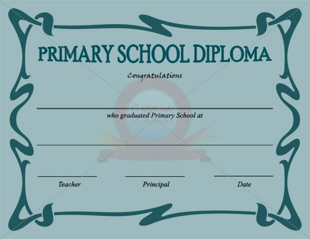 Primary School Certificate Template  School Certificate Templates