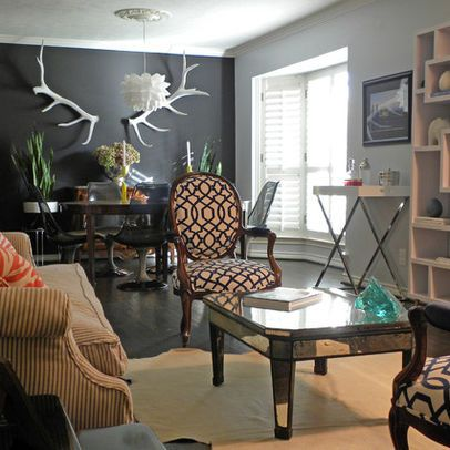 Dark Grey Walls Design Ideas Pictures Remodel And Decor Eclectic Living Room Design Eclectic Living Room Living Room Designs