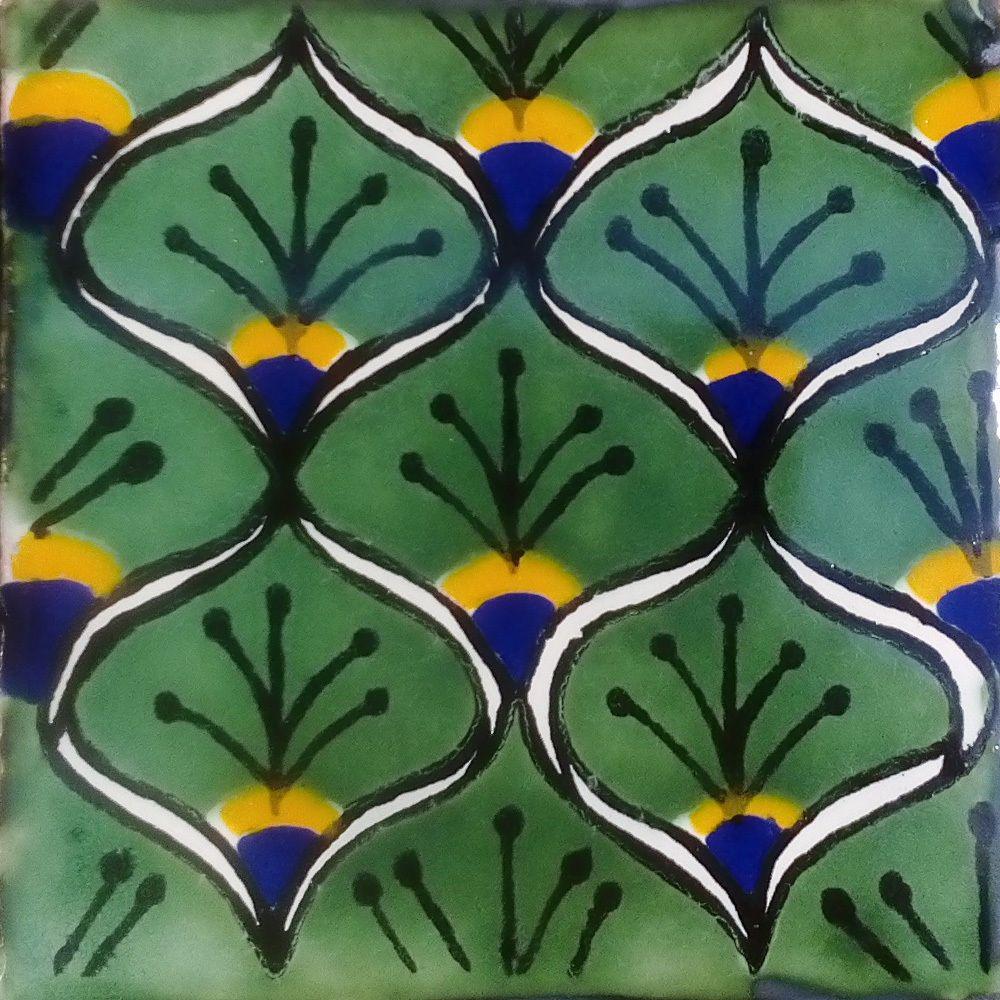 C#056 MEXICAN TILE SAMPLE WALL FLOOR TALAVERA MEXICO CERAMIC HANDMADE POTTERY