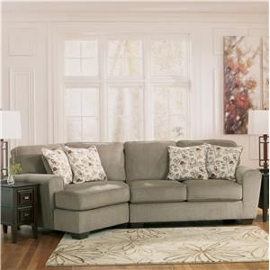 ashley furniture patola park patina 2 piece sectional with left cuddler 1290076 56 living. Black Bedroom Furniture Sets. Home Design Ideas