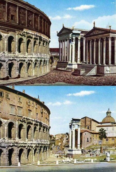 Teatro di marcelo roma antica impero romano e storia romana for Architettura e design roma