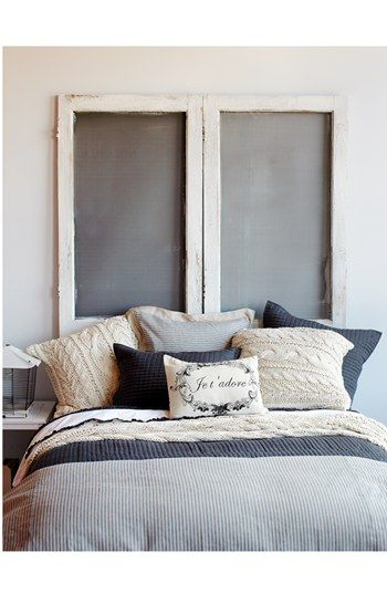 Decorating With An Old Screen Door Or Window Bedazzled Beds Awesome Decorating Beds With Pillows