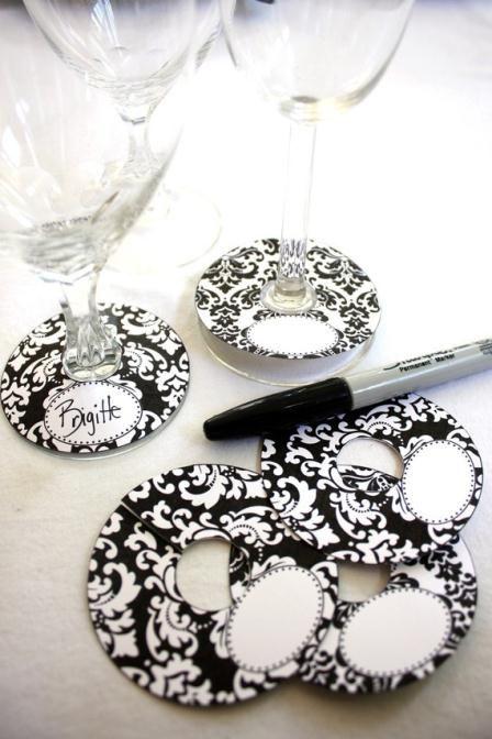 Wine Glass Tags Wine Glass Tags Diy Wine Glass Wine Glass Charms