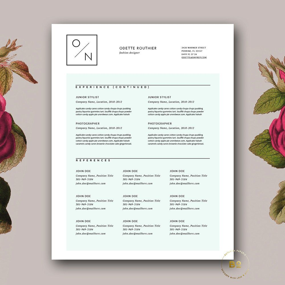 Hipster Resume Template for MS Word | Pinterest
