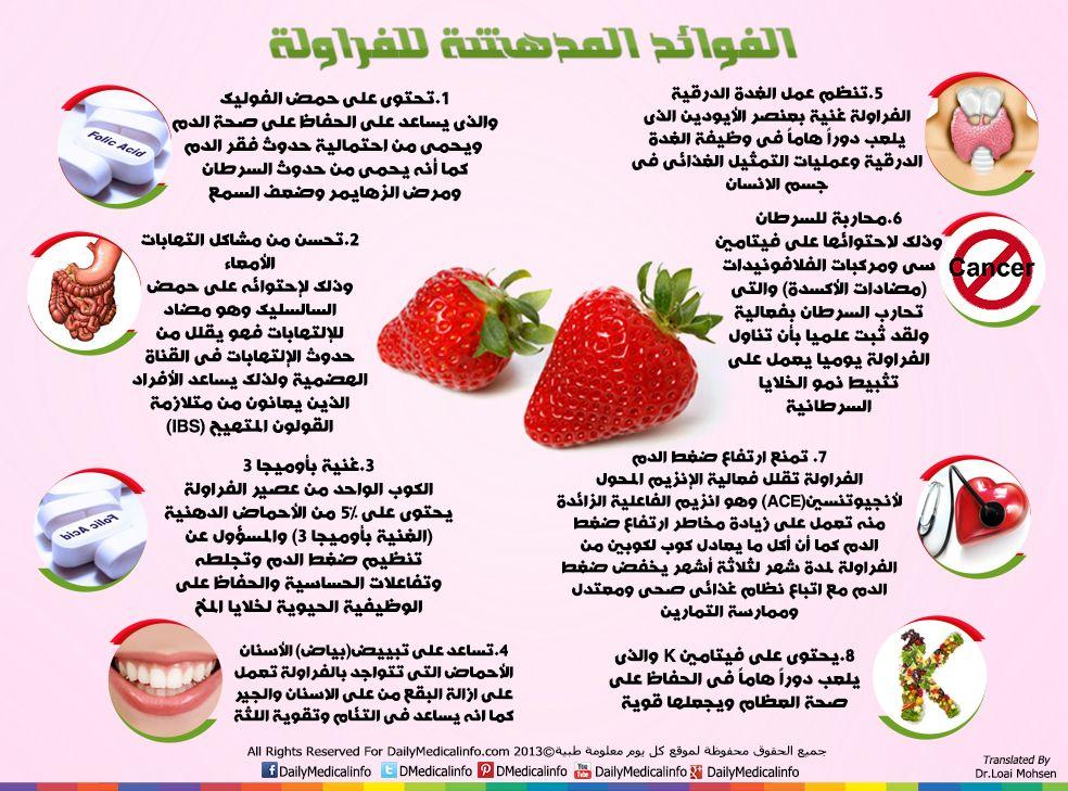انفوجرافيك الفوائد المدهشة للفراولة انفوجرافيك طبية كل يوم معلومة طبية Http Www Dailymedicalinfo Com Infographic Fruit Benefits Health Food Health Diet