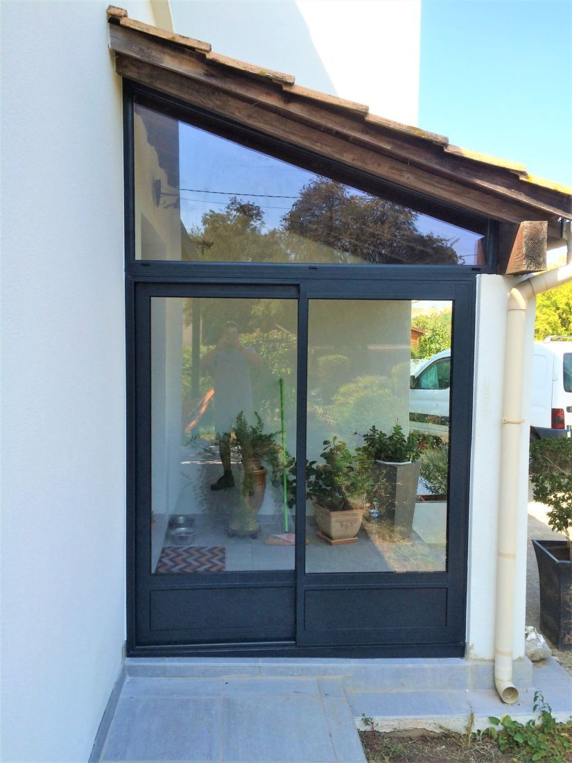 veranda sas maison montpellier atplus en 2019   Veranda, Veranda aluminium et Maison