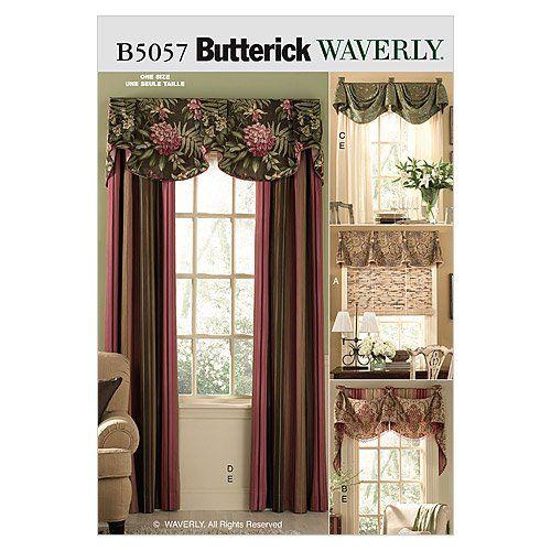 Butterick Patterns B5057 Window Treatments, All Sizes BUTTERICK PATTERNS http://www.amazon.com/dp/B000XPWPQE/ref=cm_sw_r_pi_dp_RPFJwb05Y8S6G