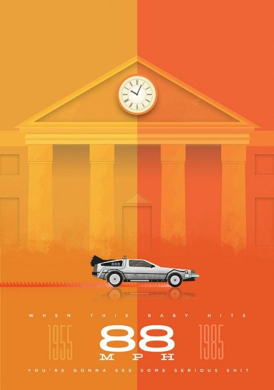 Back to the Future poster by Andy Helms