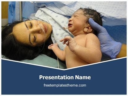 Get this #Free #New #Born #PowerPoint #Template with different - nursing powerpoint template