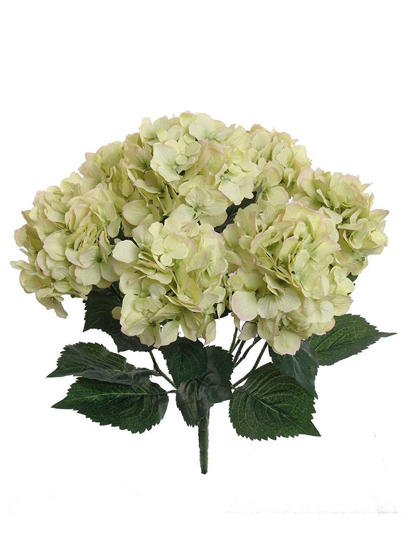 Ppower 7 cabezas ramo de flores hortensia flor - Plantas artificiales para decoracion ...
