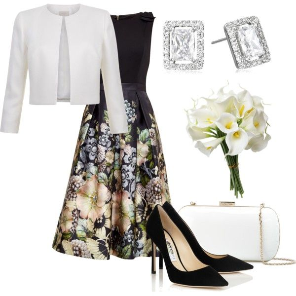 Без названия #1950 by claire-hamilton-bristol on Polyvore featuring moda, Ted Baker, Sergio Rossi and CZ by Kenneth Jay Lane