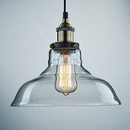 vintage lighting pendants. Contemporary Pendants Ecopower Industrial Edison Vintage Style 1Light Pendant Glass Hanging Light  Amazon 39 Intended Lighting Pendants E