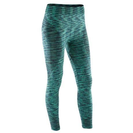 pas mal économiser 100% de satisfaction Legging YOGA+ 500 sans couture femme vert chiné longueur 7/8 ...