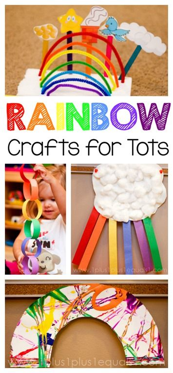 Rainbow Crafts for Toddlers and Preschoolers.