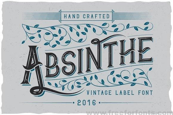 Absinthe Label Typeface Font Free Download Free For Fonts Typeface Labels Typeface Font