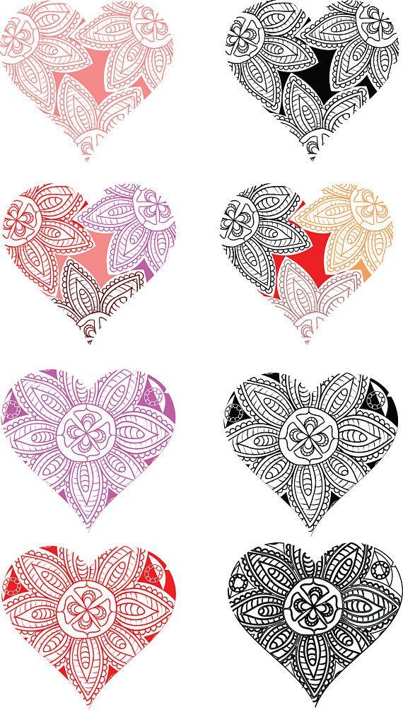 Download Mandala Heart SVG Valentine's Day SVG Love Silhouette