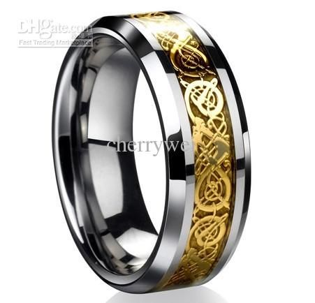 DragonTungsten Carbide Celtic Ring Mens Jewelry Tungsten Carbide
