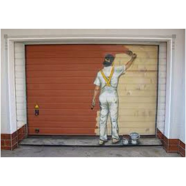 Who S Painting My Door Garage Door Mural Garage Doors Garage Door Paint Garage Door Design