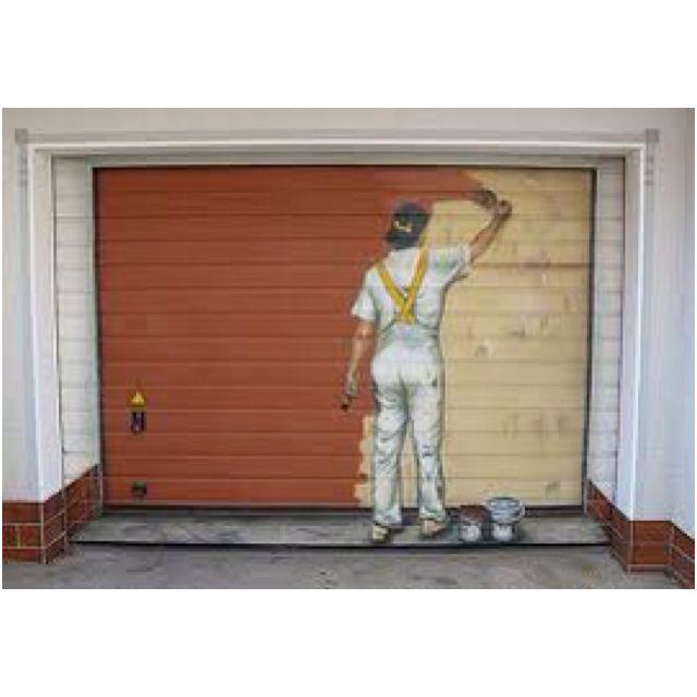 Cool garage door...