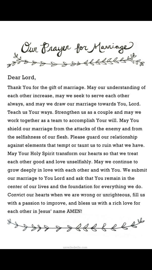 Nightly prayer | I Choose You | Marriage prayer, Wedding