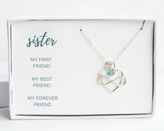 201 & Sterling Silver Sister Necklace for 2 3 4 5 6 - Birthday Mothers Day ...